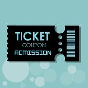 Ticket icon design Stock Illustration