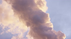 Chimney at industrial plant - pollutants in the air - stock footage