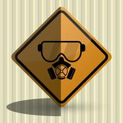 Safety icon design - stock illustration