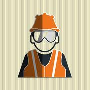 Safety icon design Stock Illustration