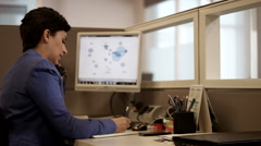 Businesswomen working at office. Stock Footage