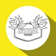 Natural and eco  design - stock illustration