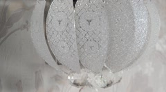 Crystal sconce on the wall in room Stock Footage