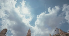 Wide shot of the Dormition abbey in Jerusalem Stock Footage