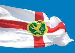 Alderney wave flag HD - stock illustration