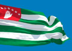 Abkhazia wave flag HD - stock illustration