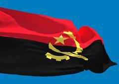 Angola wave flag HD - stock illustration