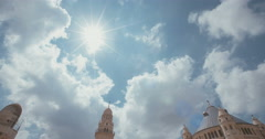 Tilt down Wide shot of the Dormition abbey in Jerusalem Stock Footage