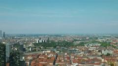 Milan, aerial view Stock Footage