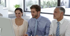 Business people having a video conference Stock Footage