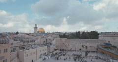 Time Lapse of the temple mount and the western wall in old city Jerusalem - stock footage
