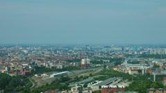 Milan, aerial view of railroad interchange Stock Footage