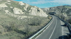 Aerial video of a deserted road in the countryside. N. Stock Footage