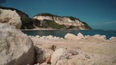 View of Melasti Cliff (Ungasan, Bali) Stock Footage