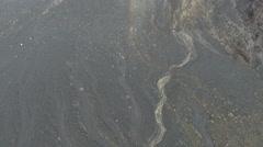 Aerial Tilt Up Active Crater At Sakurajima Volcano - stock footage