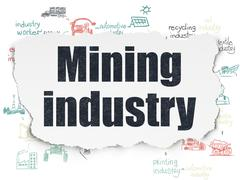 Manufacuring concept: Mining Industry on Torn Paper background Piirros