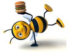 Fun bee - stock illustration