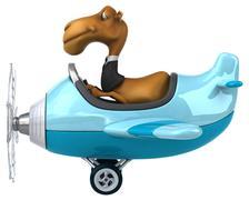 Fun camel - stock illustration
