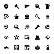 Crime and Security Vector Icons - stock illustration