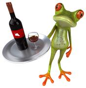 Fun frog - stock illustration