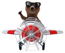 Fun bear - stock illustration
