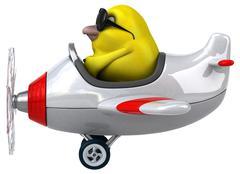 Yellow bird - stock illustration