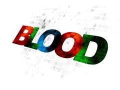 Healthcare concept: Blood on Digital background - stock illustration