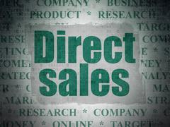 Advertising concept: Direct Sales on Digital Data Paper background - stock illustration