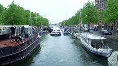 Sail boat canal in Copenhagen Stock Footage