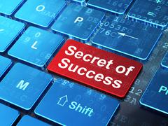 Business concept: Secret of Success on computer keyboard background - stock illustration
