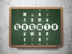 Business concept: Growth in Crossword Puzzle Stock Illustration