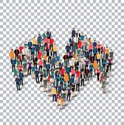 Abstract Transparency symbol people Stock Illustration