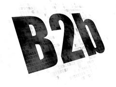 Finance concept: B2b on Digital background - stock illustration