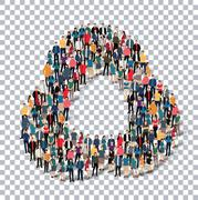 abstract Transparency symbol people - stock illustration