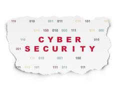 Privacy concept: Cyber Security on Torn Paper background - stock illustration