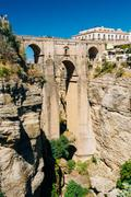 The New Bridge or Puente Nuevo in Ronda, Province Of Malaga, Spa - stock photo