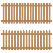 Wooden fence isolated on background. Wooden fence. Stock Illustration