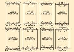 Vintage decorative design border - stock illustration