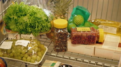 Shopping Trolley Being Filled With Groceries And Healthy Food Stock Footage