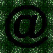 At symbol on green hex code illustration - stock illustration