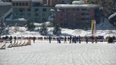 St Moritz grand prix horse skijoring Stock Footage