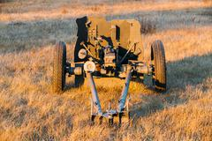 German Anti-tank Gun Pak 36 In Field - stock photo