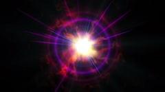abstract ray star flame - stock footage