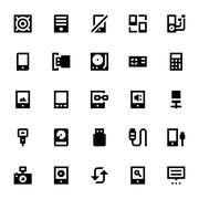 Communication Devices Icon Set Stock Illustration