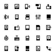 Communication Devices Icons - stock illustration