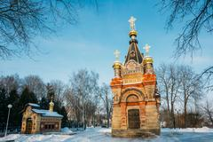 Chapel-tomb of Paskevich in Gomel, Belarus. Winter season - stock photo