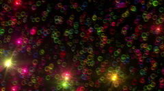 color bubble abstract ray - stock footage