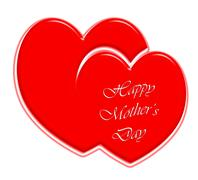 Happy Mother's Day red hearts Stock Illustration