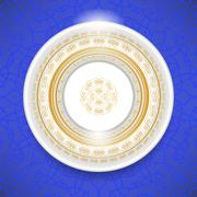 Ceramic Ornamental Plate Stock Illustration