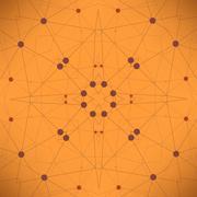 Orange Technology Background - stock illustration